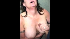 Amazing Mature woman gives her mouth for two friends