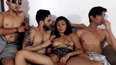 Amateur Teen Girlfriend Anal Group Sex With Facial Shot