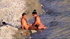 Beach Voyeur Video Brunette Cutie