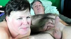 Mature Amateur Wife Homemade Handjob And Fuck With Cum
