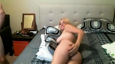 Very Horny and Busty Amateur Teen bends and bates on webcam