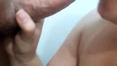 Sexy Brunette Asian Amateur Gives Hot Handjob And Blowjob